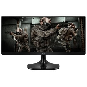 Monitor Gamer Led 25 Lg 25Um58-G, 1Ms, 75Hz, Ultrawide, 2Hdmi, Headphone Out, Ips, Preto