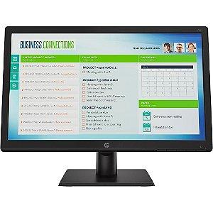 Monitor Led 18.5 Hp V19B, 5Ms, 60 Hz, Widescreen, Hd, Vga, Vesa, Preto