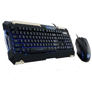 Kit Gamer, Teclado Led Azul, Abnt2 + Mouse Led Azul, Thermaltake Esports Commander, Kb-Cmc-Plblpb-01