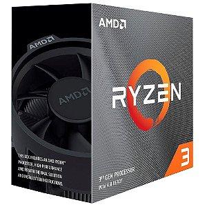 Processador Am4 Amd Ryzen 3 3300X, 3.8 Ghz, Max Turbo 4.3 Ghz, Cache 16 Mb, Sem Vídeo Integrado