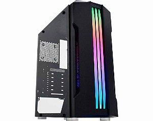 Gabinete Gamer Kmex Cg-02Qi Bifrost, Painel Led, Rgb Rainbow, Sem Fan, Sem Fonte