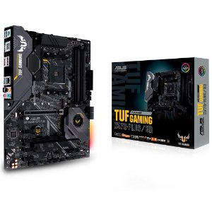 Placa Mãe Am4 Asus Tuf Gaming X570-Plus, Ddr4, Hdmi, D-Port, M.2, Usb 3.2, Rgb, Crossfirex