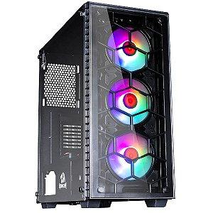 Gabinete Gamer Redragon Gc-903 Diamond Storm Pro, 3 Fans Rgb, Sem Fonte, Vidro Temperado
