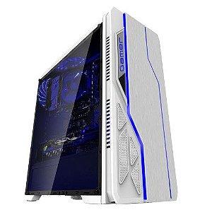 Gabinete Gamer Bluecase Bg-009, Sem Fonte, Sem Fan, Usb 3.0, Branco