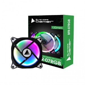 Cooler Fan Rgb Bluecase Bfr-07Rgb, 12X12X2.5 Cm, 1.200 Rpm