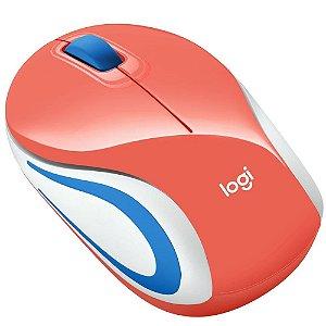 Mouse Sem Fio Logitech M187, Coral, 1000Dpi, 910-005362