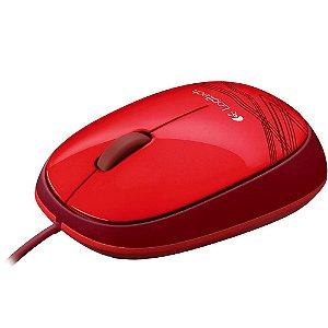 Mouse Usb Logitech M105, Vermelho, Óptico, 1.000 Dpi, 910-002959