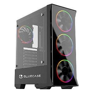 Gabinete Gamer Bluecase Bg-036 Sem Fonte, Sem Fan, Usb 3.0, Preto