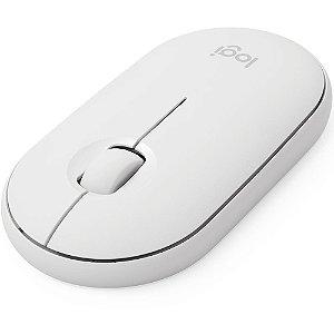 Mouse Sem Fio Logitech Pebble M350, Branco, 910-005770