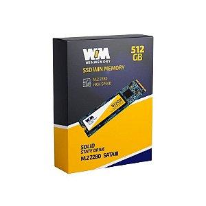 Ssd M2 512 Gb Winmemory Swb512G, Lê: 560 Mb/S, Grava: 540 Mb/S
