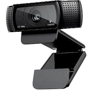 Webcam Logitech C920 Pro, Full Hd, 1080P, 15 Mega, Preta, 960-000764