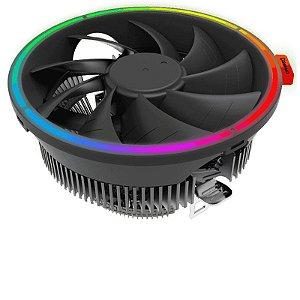 Cooler Universal Para Processador, Intel E Amd, Gamemax Gamma 200, Rgb, Fan 120Mm, Tdp 95W