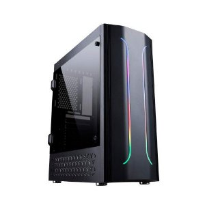 Gabinete Gamer Bluecase Bg-011, Sem Fonte, Sem Fan, Led Rgb, Usb 3.0 Frontal, Preto