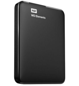 Hd Externo 1 Tb Western Digital Elements, Usb 3.0, Wdbuzg0010Bbk