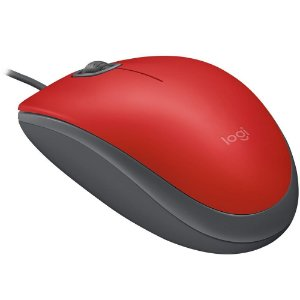 Mouse Usb Logitech M110 Silent, Vermelho, Clique Silencioso, 910-005492