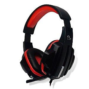Headset Gamer Multilaser Ph120, P2, Preto E Vermelho