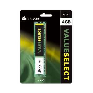 Memória Desktop Ddr3 4Gb/1600 Mhz Corsair Valueselect, Cmv4Gx3M1A1600C11