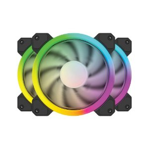 Cooler Fan Rgb Bluecase Bfr-12Rgb, Controlável, 6 pinos, Led, 12X12X2.5 Cm