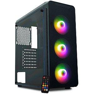 Pc Gamer Intel I3-10100F, Gigabyte H410M, Ssd 240Gb Kingston, Mem. 8Gb Xpg, Kmex A1G8, Fonte 550 Gigabyte, Gtx1660 Super