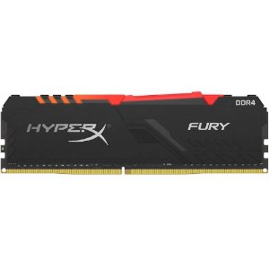Memória Desktop Ddr4 8Gb/3000 Mhz Kingston Hyperx Fury Gamer Black Hx430C15Fb3A/8, Rgb