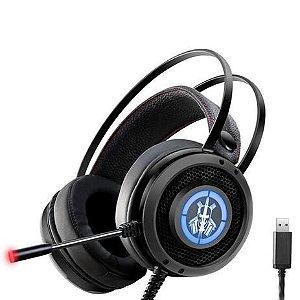 Headset Gamer Kmex Ars6, Usb, Stereo, Preto, Rgb 7 Cores, Com Microfone, Gaming