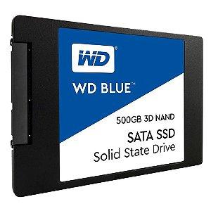 """Ssd Sata3 500 Gb Western Digital Wds500G2B0A Blue, Lê: 560 Mb/S, Grava: 530 Mb/S, 2.5"""", 7 Mm"""