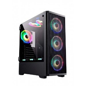 Pc Gamer Intel I3-9100, Gigabyte B360M, Ssd 240Gb Kingston, Mem. 8Gb Hyperx, Gabinete Bluecase Bg025, Fonte 550 Gigabyte