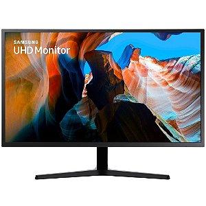 Monitor Led 31.5 Samsung U32J590Uql, 4ms, 60Hz, Widescreen, Ultra Hd 4K, D-Port, 2Hdmi, Preto