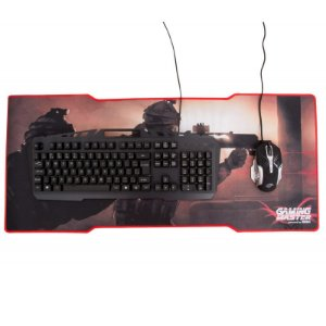 Kit Gamer, Teclado Kb-A328 Spartacus + Mouse Mo-T436 + Mousepad Fx-x8035, Kmex 3X1