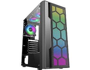 Pc Gamer Amd Ryzen 5600X, Gigabyte A520M H, Ssd Nvme 500 Gb Wd, Mem. 8 Gb Hyperx, Kmex 02Tt, Fonte 450 W Corsair, Gt1030