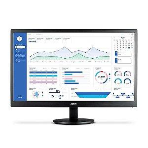 Monitor Led 21.5 Aoc E2270Swhen Wide, 60 Hz, 5Ms, Widescreen, Full Hd, Hdmi, Vga, Preto