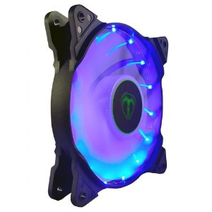 Cooler Fan Azul T-Dagger T-Tgf300-B, 12X12X2.5 Cm, 3-Pin E Molex, 1.200 Rpm, Silencioso