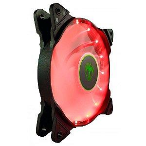 Cooler Fan Vermelho T-Dagger T-Tgf300-R, 12X12X2.5 Cm, 3-Pin E Molex, 1.200 Rpm, Silencioso