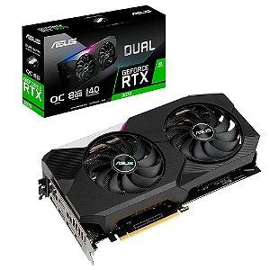 Placa De Vídeo Geforce Ddr6 8Gb/256 Bits Rtx 3070 Asus, Oc Edition, Dual-Rtx3070-O8G