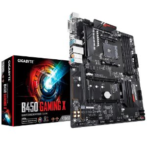 Placa Mãe Am4 Gigabyte B450 Gaming X, Ddr4 64Gb, Amd, Atx, Hdmi, Dvi
