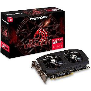 Placa De Vídeo Radeon Ddr5 8Gb/256 Bits Rx580 Power Color, Red Dragon, Axrx 580 8Gbd5-3Dhd