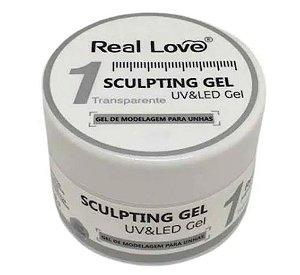 Gel Esculpidor Sculping 01 Transparente Uv/led Real Love Unhas