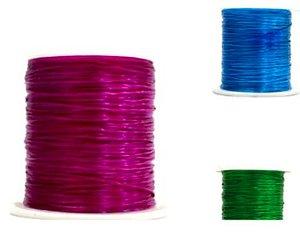 Cordão Fio Elástico Fitilho Com Elastano 50metros Trança Box Braids Decoração de Cabelo Rosa