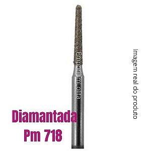 Broca Diamantada Pm 718 Esterilizavel Original Cutilagem Russa Manicure