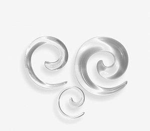 Alargador Espiral Caracol Preto Acrílico Hiphop Gótico Expansor para Orelha Acrílico 5mm