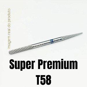 Broca Tungstênio Para Unhas Super Premium Ponta Dupla T58