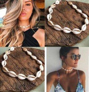 Choker Búzios Naturais Concha Praia Gargantilha Tendência Verão Moda Feminina