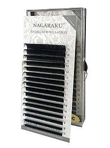 Cílios Nagaraku Premium Mix (7a15mm) - Curvatura D - Volume Russo e Fio A Fio - 0.7D