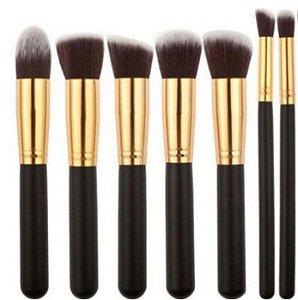 Kit Pincel Maquiagem Kabuki Profissional 6 Peças Maquiagem Artística Make Profissional