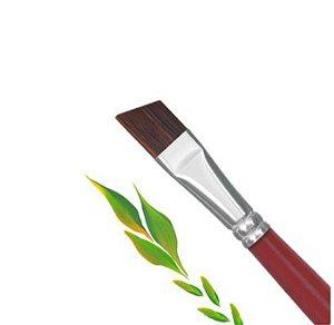Pincel Para Gel X&D Luxo Vermelho com Preto Chanfrado Unha Uv Led Acrigel Fibra Profissional Nails