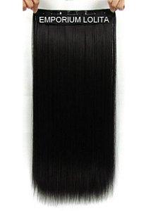 Aplique Alongamento Tic Tac Mega Hair Orgânico Liso Preto 140gr Perfeição Preto Liso