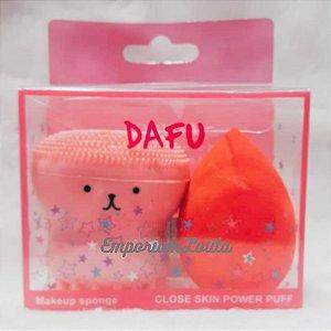 Esponja Polvo kit 2 Peças Esponja Beauty Blender de Maquiagem Esfoliante Escova de Limpeza Facial