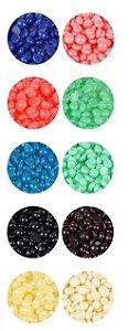 Cera Depilatória Indolor para Remoção de Pelos / Grãos de Cera Quentes e Rígidos para o Corpo 25g - Azul