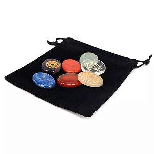 Kit Pedras Naturais dos Chakras Reiki Equilibradoras Naturais Ideal para Tratamentos Holísticos