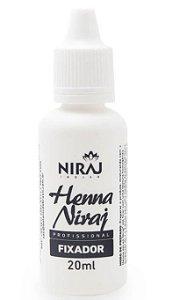 Fixador Profissional de Henna Niraj Design de Sobrancelha Fixação Premium 20ml